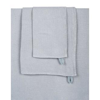 Serviette de bain en lin lavé silex Nid d'abeille 90x160cm