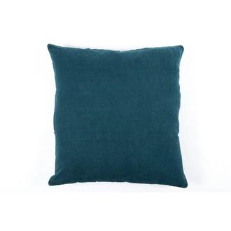 Coussin de sol carré bleu de prusse en lin 80x80cm