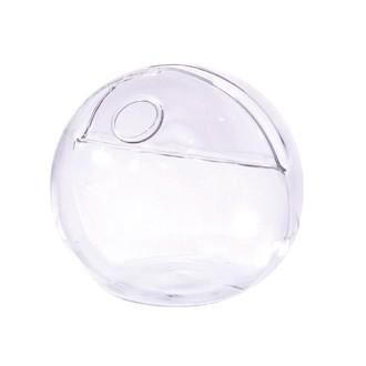 Soliflore sphère  avec porte nom en verre 5cm