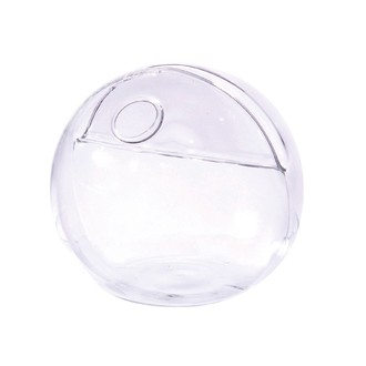 Soliflore sphère  avec porte nom en verre  8cm