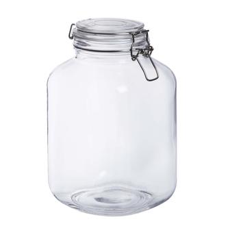 Terrarium bocal en verre carrée 17x17xh27cm