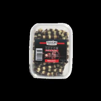TRESORS DE CHEFS - Duo de rolls au chocolat blanc et noir en sachet 100g