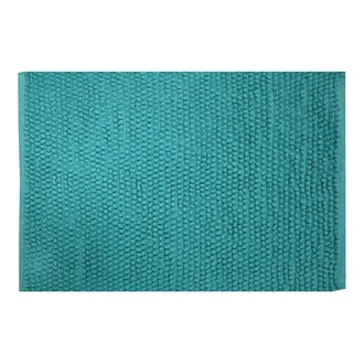 ZODIO - Tapis de bain popcorn paon 50x70cm