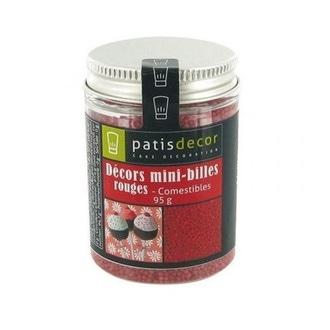 PATISDECOR-Decor mini-billes rouge 95g