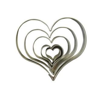 Set de 5 emporte pièce cœur petit (1,5 à 5,9 cm)
