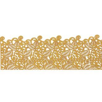 Dentelle feuille doré patisdecor