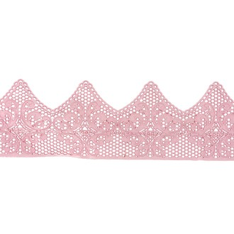 Dentelle broderie rose patisdecor