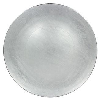 Assiette hôtesse coupe ronde argent 33cm