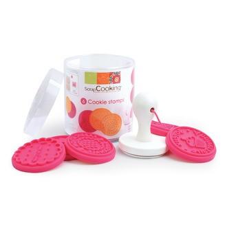 SCRAPCOOKING - Set de 6 tampons à biscuits en plastique