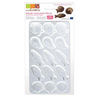 SCRAPCOOKING - Moule à chocolat  15 fritures en polycarbonate