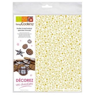 SCRAPCOOKING - 2 feuilles chocolat entrelacs