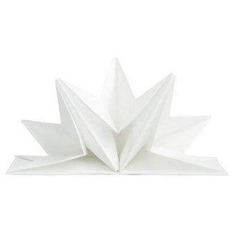 Paquet de 12 serviettes en papier prépliées blanches 40x60cm
