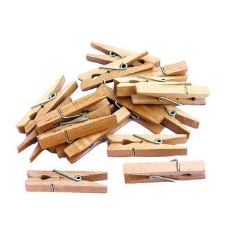 Lot de 50 pinces à linge en bois 2,5cm