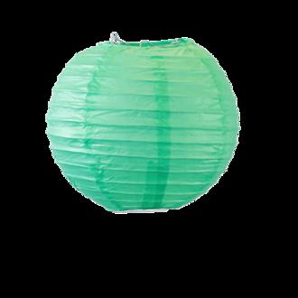 Suspension boule japonaise en papier vert deau 20cm