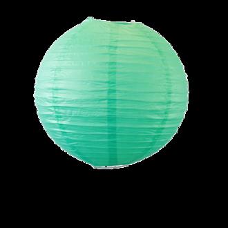 Suspension boule japonaise en papier vert deau 30cm