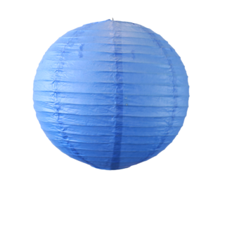 Suspension boule japonaise en papier bleu roi 30cm