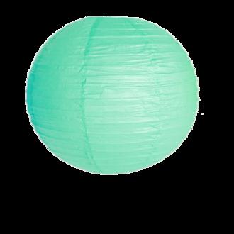 Suspension boule japonaise en papier vert deau 40cm