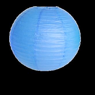 Suspension boule japonaise en papier bleu roi 40cm