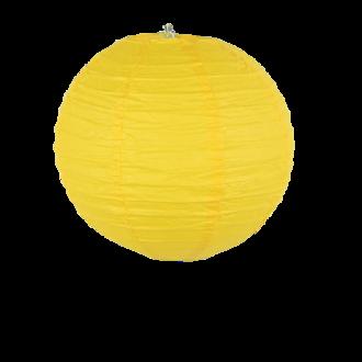 Suspension boule japonaise en papier jaune 20cm