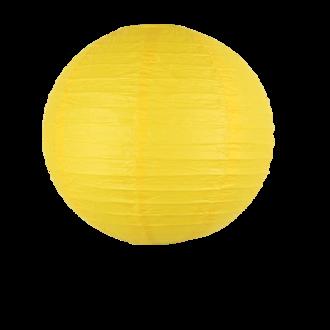 Suspension boule japonaise en papier jaune 30cm