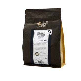 CAFÉS PFAFF - Café en grain fort et corsé Black Expresso  en sachet 250g