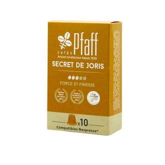 CAFÉS PFAFF - Boîte de 10 capsules compatibles Nespresso Secret de Joris
