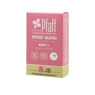 CAFÉS PFAFF - Boîte de 10 capsules compatibles Nespresso Sweet Blend