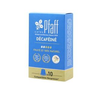 CAFÉS PFAFF - Boîte de 10 capsules décaféinés