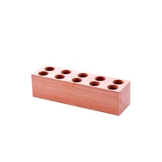 LE MONDE EN TUBE - Support en bois pour 10 mini-tubes à épices