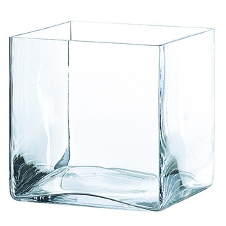 Vase cube transparent  20x20x20cm