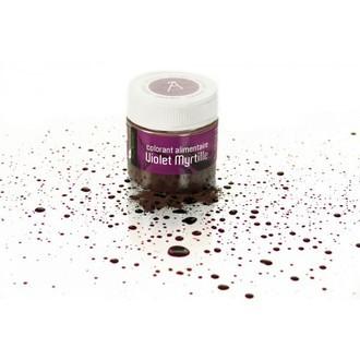 Colorant alimentaire en poudre hydrosoluble violet en pot 10g