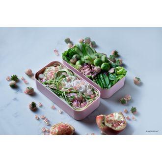 MONBENTO- Lunch box avec 2 compartiments rose Litchi 1L