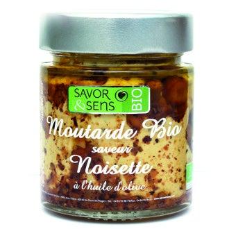 SAVOR & SENS - Moutarde aux noisettes grillées biologique 130g