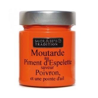 SAVOR - Moutarde au piment d'espelette saveur poivron ail 130g