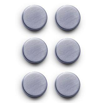 Set de 6 magnets ovals en inox brossé 2,7cm