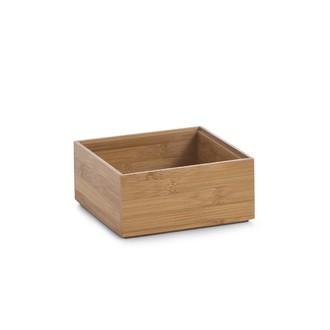 Organiseur de tiroir en bois de bambou 15x15x7cm