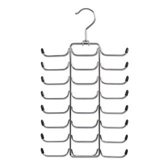 Cintre porte cravatte et/ou ceinture 24 crochets en chrome