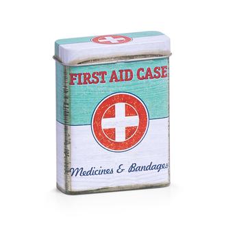 Boite à pharmacie en métal First Aid  7x2,7x9,4 cm