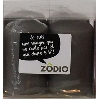 ZODIO - 4 bougies votives zinc 6,5x4cm