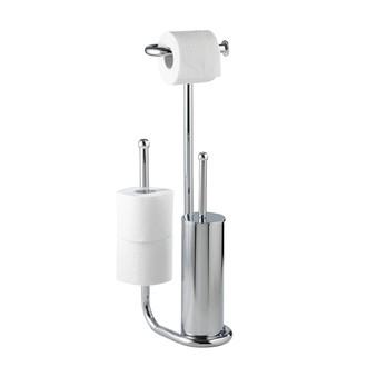 WENKO - valet pour wc avec porte brosse, dérouleur et porte papier toilette