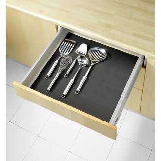 WENKO - Tapis fond de tiroir noir 150x50cm