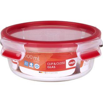 CLIP & CLOSE - Boîte de conservation ronde en verre 1L
