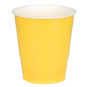 Lot de 10 gobelets jaunes 26ml