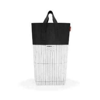 Panier à linge Urban rayures noir et blanc