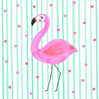 20 Serviettes flamand rose 33x33 cm
