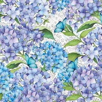 25 serv 33x33 cm Blue Floral
