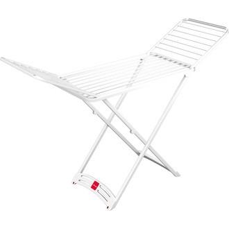 Etendoir à linge sur pieds résine en acier blanc 20M 182x55x88cm