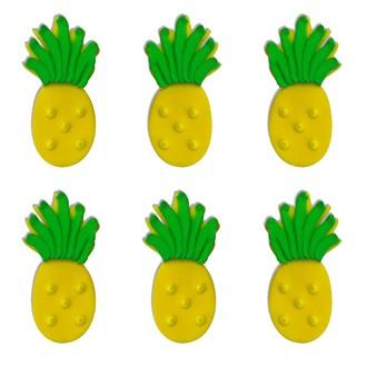Lot 6 décors en sucre ananas
