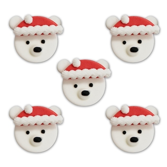 Petits décors en sucre ours blanc