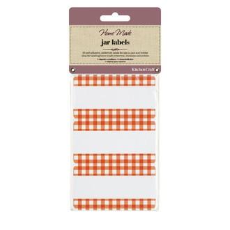 Pack de 30 étiquettes pour bocaux vichy